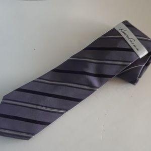 NWT Kenneth Cole Silk Tie Purple